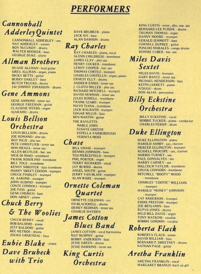 Program from the Newport Jazz Festival