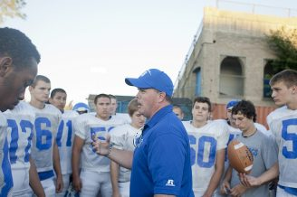 RBHS coach Brendan Curtin has guided the Bulldogs to a promising 5-2 start this year after two difficult seasons. (David Pierini/Staff Photographer)