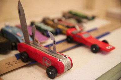 The Pack 24 Cub Scouts annual pinewood derby at Riverside Presbyterian Church on Saturday 24, 2015.   CHANDLER WEST/Staff Photographer