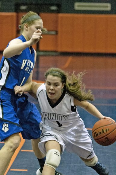 All-State guard Annie McKenna powers an explosive offensive attack for Trinity. The Blazers, seeded second in the sectional, won the GCAC title during the regular season.(File photo)