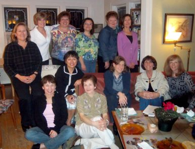 Bookworms: Members of the MWD Book Club include (front row, from left) Linda Rotunno, Miriam Leary, Christine Ricker, author and special guest Brigid Pasulka, Debbie Bradt, Sharon Leamy and (back row) Sarah Thompson, Eileen Moran, Marianne Bianco, Mary Cerrone, Pat Flanagan, Kathi Roccanova. Not pictured: Linda Cervenka, Lisa Musial, Maggie Smith