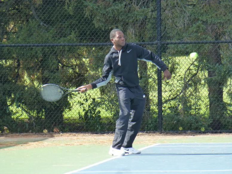 Jaleel Dennis, who plays all of his Gladiator Tennis matches at Taylor Park in Oak Park, won the 3.0 level single title. He loves the league because of the fun but competitive nature of the matches and how well the league is organized. (Courtesy Steve Hess)