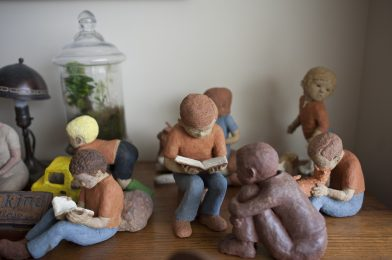 Lois Palmer Huth's sculptures in her bedroom at Canata Adult Life Services where she resides. | William Camargo/Staff Photographer