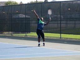 Players enjoy Gladiator Tennis for a variety of reasons including: affordability, outdoor exercise, flexible scheduling, competitive matches and new-found friendships. (Courtesy Steve Hess)