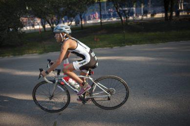 A bicyclist during Cori's Kid's Triathlon. | William Camargo/Staff Photographer