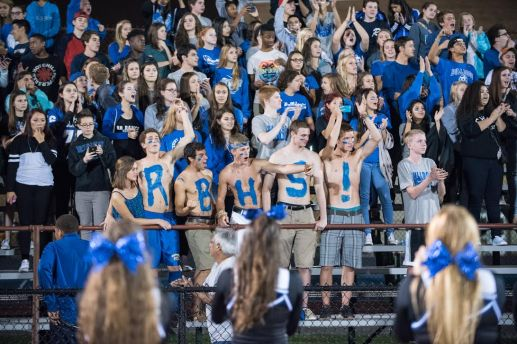 RBHS fans cheer on the Bulldogs in their season-opening 19-18 win against host Morton on August 28, 2015 at Hoffman Stadium in Berywn. (Max Herman/Contributing Photographer)