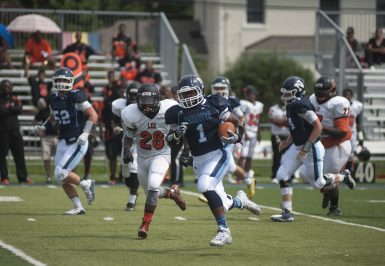 Nazareth junior running back Keenan Ivory-Martin scored a school-record six touchdowns in a 56-28 win against St. Patrick on Sept. 11. (File photo)