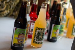 Filbert's root beer lines a table at HopStop. | Stacey Rupolo/Contributor