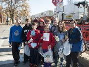 Children from St. Mary's Parish hold cards on Parish Action Day. William Camargo/Staff Photographer