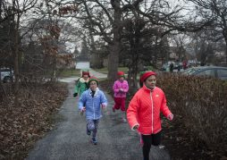 Children run at the Cardio Kids Cocoa Run at Blythe Park Elementary school. | William Camargo/Staff Photographer