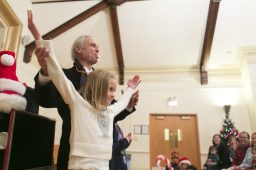 Dr. D performs a magic show at Riverside Township Hall. | Michelle Kanaar/Contributor