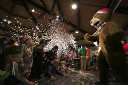 Children and adults celebrate at Broofield Zoo's Zoo Year's Eve party for families on Dec. 31.   Rick Majewski/Contributor