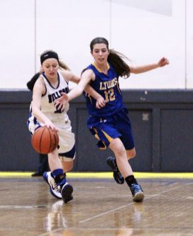RBHS junior Sam Bloom and LTHS senior Nina Scaramella are both invaluable combo guards for their respective teams. (File photo)
