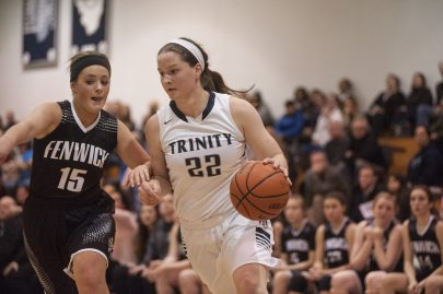 Trinity senior forward Kaitlyn Aylward is one of the top players in the state. Led by her and fellow senior Annie McKenna, the Blazers are a top contender in the Class 4A playoffs. (File photo)