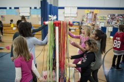 Children grab their jump rope during the school's Jump Rope for Heart fundraiser on Feb. 19. | William Camargo/Staff Photographer