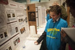 Michael Talapin a 5th grader from Central Elementary explains his science project. | William Camargo/Staff photography