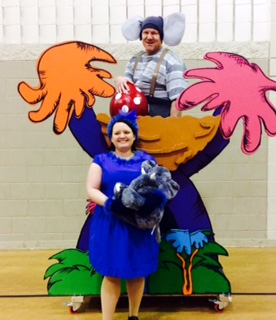 Performing in Seussical are Jeremy Heer as Horton the elephant (top) and and Sharesa Uher Moffitt as Gertrude. | Photo provided