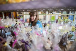 Donna Maldonado browsing for Easter candy at Aunt Diana's Old Fashioned Fudge.   William Camargo/Staff Photographer