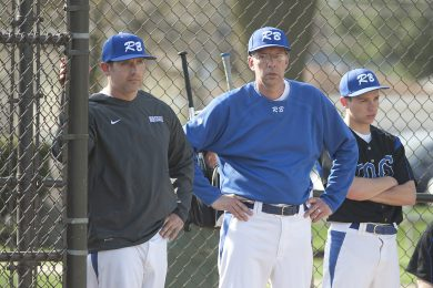 RBHS head coach Dallas Till (pictured left), with assistant coach Mark Ruge, recently notched his 250th career win. (File photo)