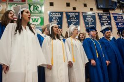 Riverside Brookfield graduating seniors join the choir one last time before receiving their diploma. | William Camargo/Staff Photographer