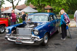 People look at Show Down, a '57 Chevy 150 on display. | Stacey Rupolo/Contributor