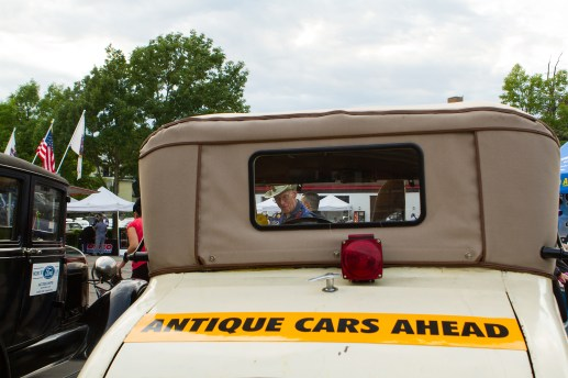 Ron Dust is seen through his 1929 Ford coupe. | Stacey Rupolo/Contributor