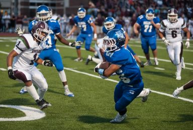 RBHS running back Nicolas Del Nodal had 170 yards and two touchdowns on eight carries in the Bulldogs' 40-7 win against Ridgewood on Sept. 9 in Norridge. (File photo)