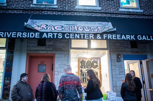 Patrons line up to enter RAC The House art gala at the Riverside Arts Center on Saturday, Oct. 1. | William Camargo/Staff Photographer