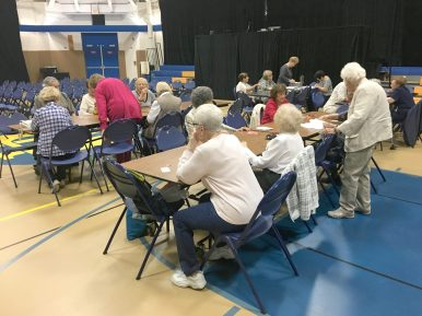 Golden Agers socializing at a club meeting in North Riverside. | Photo by Kevin J. McCarey