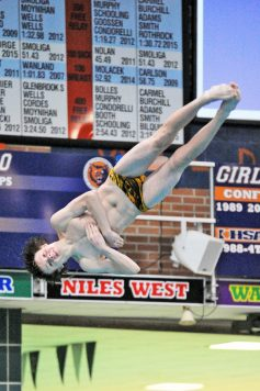 LTHS senior Seamus Scotty is a two-time state medalist. He should be a major contender to win a state title in diving this season. (Photo by Patrick Gorski)