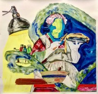 """Riverside Arts Center, 32 E. Quincy St. in Riverside, presents """"What the Cool Pigeon Knows,"""" a solo exhibition of works by painter Kevin Blake in the RAC's FlexSpace gallery from March 5 through April 15."""