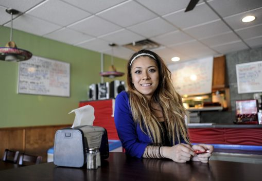 Kym Shepherd, the manager of Buenas Salsas on 31st Street, says the house specialty is chiles rellenos. The restaurant is one of three businesses serving Mexican cuisine new to the village since the beginning of 2017. La Michoacana, an ice cream shop, opened in February and Fiesta Margarita is expected to open soon.   William Camargo/Staff Photographer