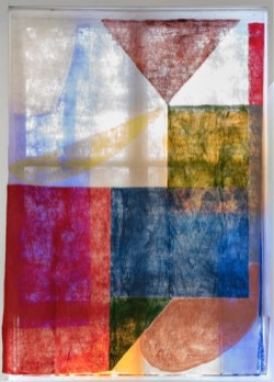 "Anna Kunz, ""Heart of Glass,"" latex on fabric"