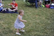 Miriam enjoys dancing to classic rock played by ARRA during the first summer concert at Kiwanis Park in Brookfield on June 23. | William Camargo/Staff Photographer