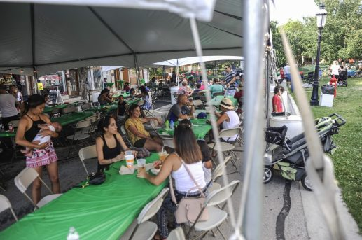 People enjoy food during the RiverFest in downtown Riverside on July 22.   William Camargo/Staff Photographer