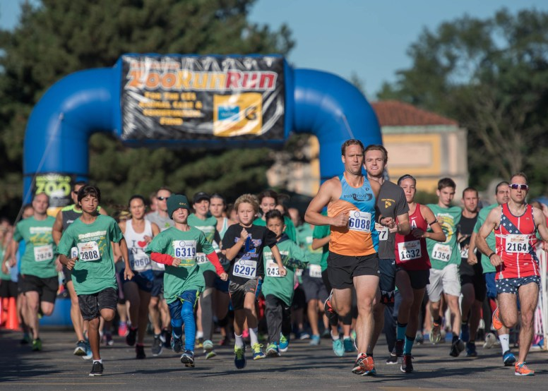 Brookfield Zoo's ZooRunRun for the Conservation Fund, an annual 5K for runners and walkers and a new 1-mile Kids' Dash to raise awareness and funding to conserve wildlife. | Courtesy of Chicago Zoological Society