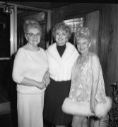 Rand appeared at Mangam's Chateau in Lyons alongside Hollywood star Celeste Holm (center). The two took time out for a photo with Helen Mangam, the Chateau's owner. | Photo by Elmer C. Johnson, courtesy of Jeffery C. Johnson
