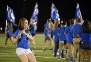 Members of the RBHS Marching Band perform a song during Riverside-Brookfield High School's Homecoming halftime show on on Sept. 22. | Photos by Alexa Rogals/Staff Photographer