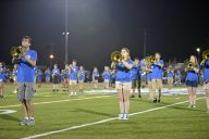 Members of the RBHS Marching Band perform during Riverside-Brookfield High School's Homecoming halftime show on on Sept. 22. | Photos by Alexa Rogals/Staff Photographer