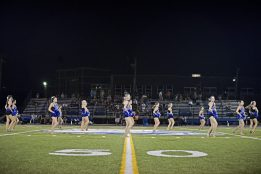 RBHS Poms teams performs a routine during Riverside-Brookfield High School's Homecoming halftime show on on Sept. 22. | Photos by Alexa Rogals/Staff Photographer