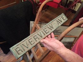 Artifacts can be found both inside and outside the museum, such as old street signs (Riverview Avenue is now Southview Avenue in Hollywood) that used to be embedded in sidewalks. | Photo by Bob Uphues