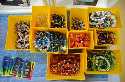 Handmade bracelets and jewelry are seen for sale at the Designs By Diane booth on Nov. 4, during the annual Holiday Bazaar at the Village Commons on Des Plaines Avenue in North Riverside. | Alexa Rogals/Staff Photographer