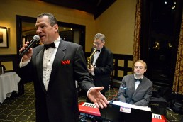 The Peter Oprisko Quintette perform songs for attendees on Dec. 10, during the Riverside Dancing Club's Winter Dance at Edgewood Valley Country Club in La Grange. | Alexa Rogals/Staff Photographer