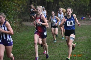 RBHS cross country runner Tara Janney (#945) led the Bulldogs with a time of 18 minutes, 35 seconds at the state meet as RBHS finished 17th in the team standings. (File photo)
