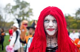 """Suzanne Conrad channeled Sally from """"Nightmare Before Christmas,"""" for the annual Monsters on Mainstreet trick-or-treating and costume contest event on Oct. 28. 