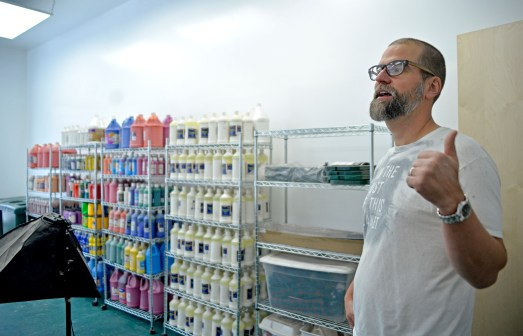 The Rev. Karl Sokol will open The Compassion Factory art gallery/studio for its inaugural art exhibition this weekend at 9210 Broadway Ave. in Brookfield. | Alexa Rogals/Staff Photographer