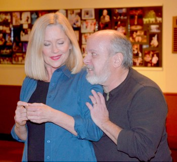 """Cheryle McKay and Tim Feeney in """"The Cure for Love"""" by Jay Berkow and directed by David Rodriguez, is onstage Jan. 18-28 at the Theatre of Western Springs, 4384 Hampton Ave. 
