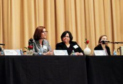 """Riverside resident and candidate for judge, Kathryn Maloney Vahey (left) said she was at first reluctant to """"raise her hand"""" and run for office at a forum hosted by Indivisible West Suburban Action League last week in Riverside. Others joining the panel discussion included Berwyn Alderman Jeanine Reardon (center) and Riverside Trustee Elizabeth Peters (right), among others. 