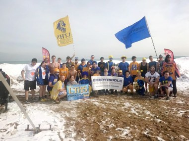 Students and staff from Lyons Township High School (above) raised more than 3,000 for Special Olympics through the organization's annual Polar Plunge earlier this year.
