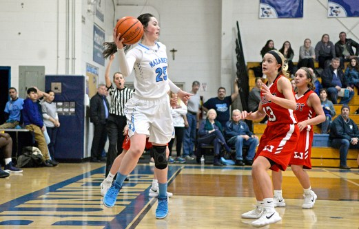 "Nazareth senior Marissa Metz is a versatile player who ""made the Roadrunners go,"" according to head coach Ed Stritzel. (Alexa Rogals/Staff Photographer)"